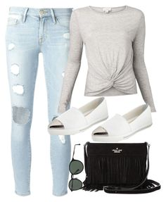 """""""Untitled #6986"""" by katgorostiza ❤ liked on Polyvore featuring Frame Denim, Witchery, Miu Miu, Kate Spade and Ray-Ban"""