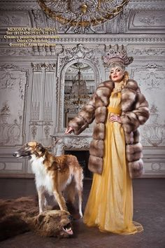 Elegance. Fashion photograph with a borzoi. #animals #dogs #borzoi