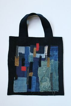 Antique linen sashiko boro tote by SASAKIYOHINTEN on Etsy