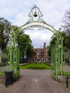 Iron gate at Jugendstil villa Rams Woerthe Steenwijk, The Netherlands. Designed by A.L. van Gendt, Steenwijk, 1899