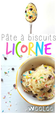 Une pâte à biscuits de licorne pour 1 personne. Attention au rush de sucre!!