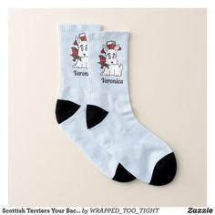 Scottish Terriers Your Background Color Socks