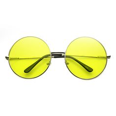 Festival Hippie Oversize Round Color Lens Sunglasses - zeroUV