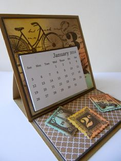 Postage Due Desk Top Calendar