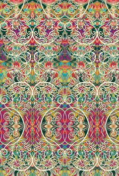 Chromazone by Paula Nadelstern for Benartex - Filigree - Red/Green