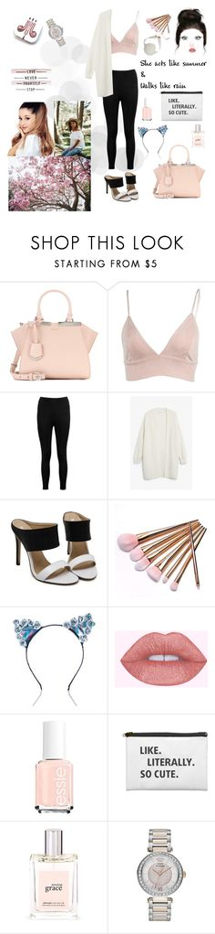 """Black n white"" by loveandrosie ❤ liked on Polyvore featuring Fendi, Boohoo, Monki, BrittsBlossoms, philosophy, Juicy Couture and PhunkeeTree"