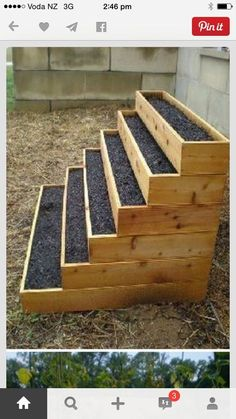 Plant steps for space saving