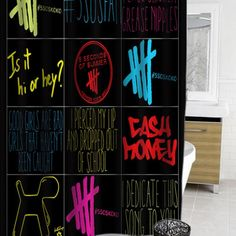 5 sos curtain #showercurtain #showercurtains #curtains #bath #bathroom #homeandliving