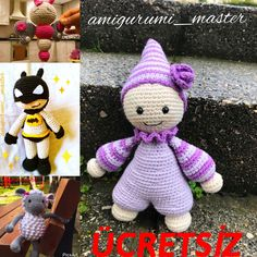 Ücretsiz tarifler @amigurumi_master Dinosaur Stuffed Animal, Crochet Hats, Toys, Animals, Amigurumi, Knitting Hats, Activity Toys, Animales, Animaux