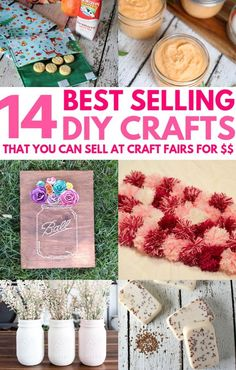 14 Amazing DIY Crafts That Sell Well At Craft Fairs and On Etsy! These fast & easy to make handmade project ideas can be made by teens and are great for making money from home. Try these crafts that make money now and be amazed at how many people want to buy them! #craftstosell #craftstomake Easy Diy Crafts, Diy Crafts To Sell, Handmade Crafts, Crafts For Kids, Diy Projects To Make And Sell, Diy Craft Projects, Project Ideas, Craft Ideas, Dollar Store Crafts
