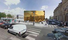 Les peintures célèbres superposées sur les photos des grandes villes du monde entier ! #Paris