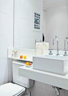 Banheiro ou lavabo? É só adaptar o espaço! - Casa
