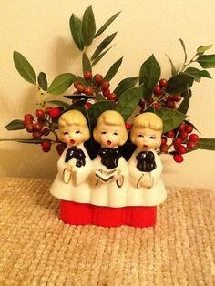 Vintage Christmas Caroler Planter Made in Japan | eBay