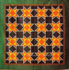 Pieced Quilt Touching Stars Mennonite 1890 Pennsylvania by SurrendrDorothy, via Flickr