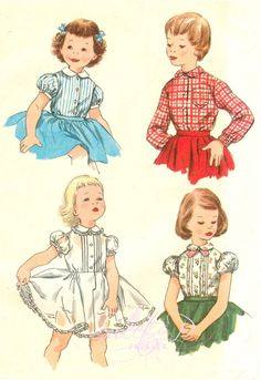 how adorable is that blouse pattern for little girls !