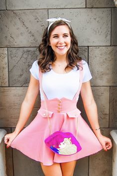 Check out this cute Sleeping Beauty Disneybound Outfit Idea! It's the perfect Princess Disneybound Outfit! #disneybound #disneystyle #sleepingbeauty