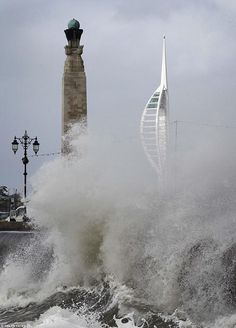 Spinaker tower and southsea 5/2/2014