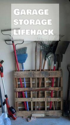 http://fixlovely.blogspot.ca/2013/12/garage-storage-lifehack.html