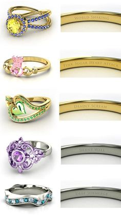 Sailor Scout Rings