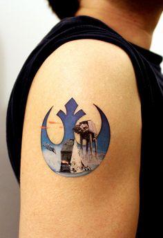Rebel Alliance Star Wars Large Temporary Tattoo by TattooMint, $4.99 #starwars #tattoo