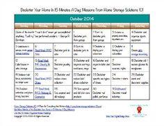 October decluttering calendar