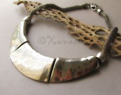 Silver Statement Necklace - Crescent Moon Antiqued Silver Necklace - Gift Idea For Her - On Vacation 9/29-10/9