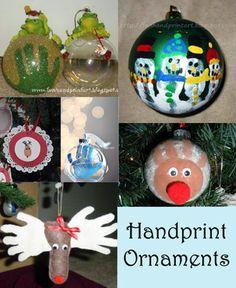 Handprint Christmas Ornaments for kids
