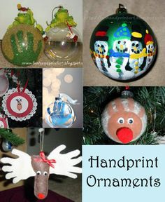Handprint Christmas Ornaments for kids @Emily Pearl