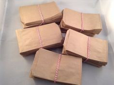bags kraft flat brown 3.25 x 5.5 inch mini by CelebrationsLLC