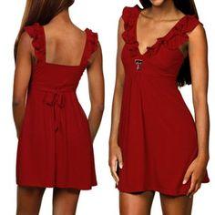 Texas Tech Red Raiders Ladies Sorority Girl Sundress - Scarlet