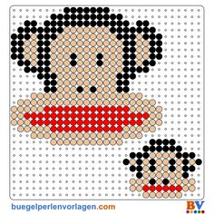Julius the Monkey by Paul Frank perler bead pattern