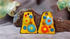 Whimsical Marigold Fiesta Enamel Earring Charms by BlueHareartwear