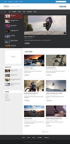 Solar - a video WordPress theme