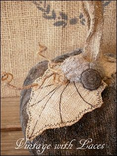 Vintage with Laces: Recycled Fabric Pumpkins