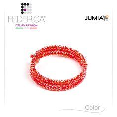 Bracelet EMMA 1 Spiral faceted crystal bracelet. Coral red. 1.100,00 Ksh http://www.federicafashion.com/it/ep65/bracelet-emma-1/ http://www.jumia.co.ke/federica-fashion/