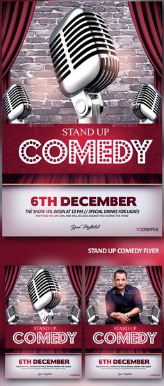 Stand Up Comedy Show - Events Flyers