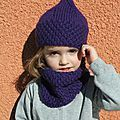 Ensemble bonnet   snood pour Lou-Ann (tutos)