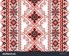 Ukrainian floral ornament on a white background Cross Stitch Needles, Cross Stitch Rose, Cross Stitch Flowers, Cross Stitch Charts, Cross Stitch Designs, Cross Stitch Patterns, Tatting Patterns Free, Embroidery Patterns, Weaving Patterns