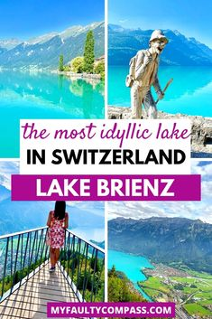 Lake Brienz is one of the prettiest, yet one of the most underrated lakes in Switzerland! Continue reading for all you need to know to visit Lake Brienz including how to get there, best time to visit, best things to do and best view points! | Switzerland | Best places to visit in Switzerland | Hidden gems in Switzerland | Best things to do in Switzerland | Switzerland bucket list | Lakes in Switzerland | Switzerland Travel | What to do in Switzerland | Switzerland photography | #myfaultycompass Europe Destinations, Places In Europe, Best Places To Travel, Cool Places To Visit, Backpacking Europe, Europe Travel Guide, Travel Guides, European Vacation, European Travel