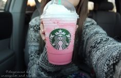 QOTD: Have you ever tried the cotton candy frap. At Starbucks? || AOTD: Yes❤️ it's AMAZING {BeautyByAbby}