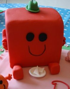 Mr #Men character - Mr Strong Square #birthday #cake