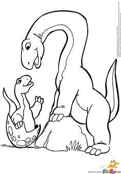 Brachiosaurus And Baby 000