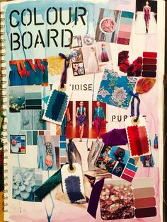 Colour board. A mood board investigating a chosen colour palette. Lydia.
