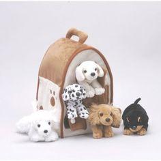 Ella hospital gift: Amazon.com : Plush Dog House -Five (5) Stuffed Animal Dogs (Dalmation, Yellow Lab, Rottweiler, Poodle, Cocker Spaniel) in Play Dog House --