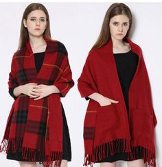 blanket Scarf Plaid Women Winter fashionable Cashmere faced Multifunction Thicken Warm cape Shawl wrap Oversized 200cm 318