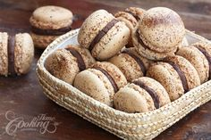 Cappuccino Macarons :: Home Cooking Adventure