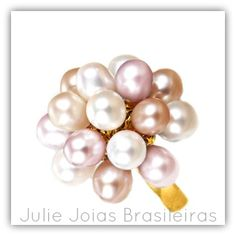 Anel em ouro 750/18k e pérolas (750/18k gold ring with pearls)
