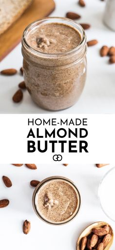 You have to try this! It's AMAZING! This easy homemade Almond Butter recipe is so simple to make and it's delicious! It's full of vitamins, proteins, and healthy fats! It's vegan, dairy and gluten-free! It's perfect for breakfast or as a healthy snack. All you need are some almond and a food processor, job done!