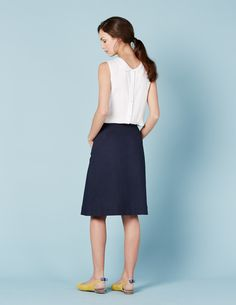 Chino Skirt WG656 A-line & Full at Boden