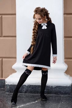 Tween Fashion, Little Girl Fashion, School Fashion, Fashion Outfits, Kids Outfits, Cute Outfits, Cute Girl Dresses, Baby Dress Patterns, School Dresses